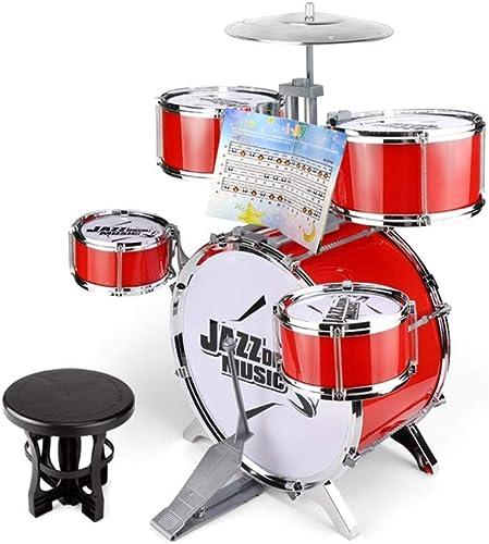 X-CAT Kindertrommeln Schl , Musikinstrumente Geschenke Jazztrommeln Anf er Musiktraining 3-6 Jahre Alt (Farbe   rot)