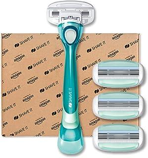 Shave It, 3-blad-damrakapparat med handtag och 4 bladhuvuden