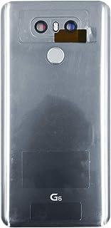غطاء زجاجي خلفي فضي من LiXiongPaw غطاء زجاجي خلفي لهاتف LG G6 H871 H872 VS998 LS993