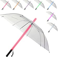 Ruconla - LED Umbrella, Lightsaber Umbrella, Golf Umbrella with 7 Colors Changing On The Shaft/Built in Torch on Bottom