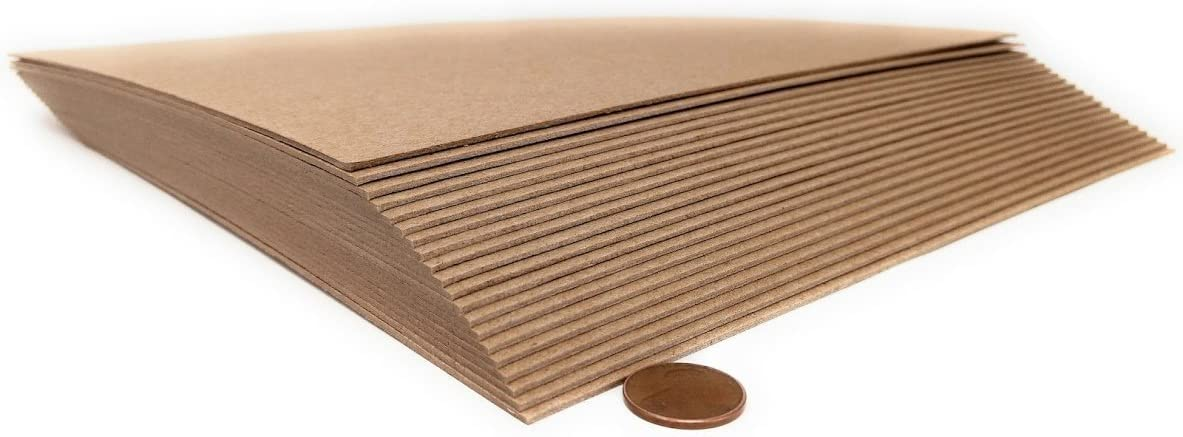 12 x Inches 52 Ranking TOP7 Point Kraft Heavy mart Sheets 15 Chipboard Duty - P