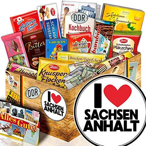 I Love Sachsen-Anhalt - DDR Schokolade Box - Sachsen-Anhalt Geschenkbox