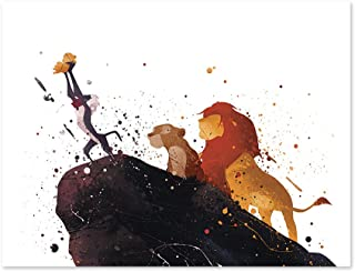 PGbureau The Lion King Inspired Watercolor Art Print Wall Poster Home Decor illustration - 8x10 Painting Paper Print P47