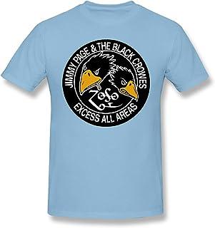 Max-GH Black Crowes メンズ コットン 半袖 クルーネック Tシャツ ロックバンド