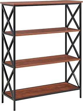 Convenience Concepts Tucson 4 Tier Bookcase, Black / Cherry