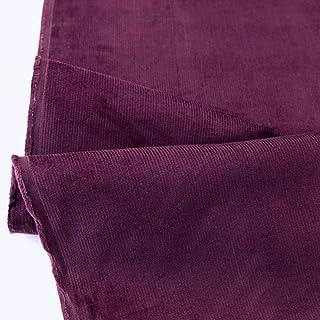 TOLKO 1m Fein Cord Stoff   leichter Baumwoll Cordsamt   Bekleidungsstoff für Hosen Jacken Kleider Hemden   weiche Meterware 140cm breit   uni Baumwollstoffe Nähstoffe günstig kaufen Bordeaux