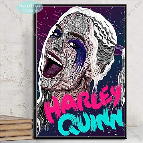 wtnhz Sin Marco Harley Quinn Poster d'arte Joker Squad Poster e stampe su Tela Quadro per soggiorno Decorazioni per la casa 50x75cm