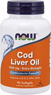 Now Cod Liver Oil 1000 mg Extra Strength Softgels - 90 Softgels