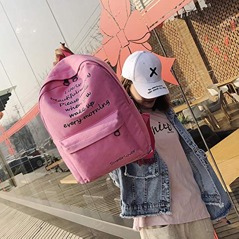Rucksack GLQyM Canvas Campus Bag weibliche groe Kapazitt Reisetasche Vintage Rucksack C