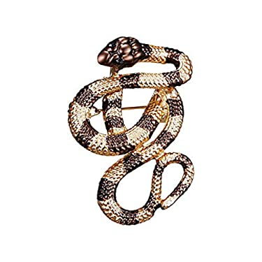 la espoir Vintage Snake Brooch Pin Personnality Women Girls Clothes Jewelry Chic Animal Lapel Pin