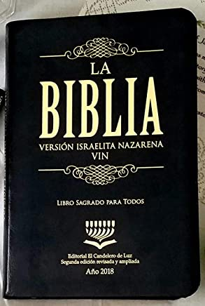 La Biblia Version Israelita Nazarena 2018-2019 (Color Negro)
