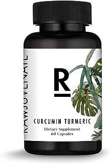 Amazon Brand - Curcumin Turmeric Capsules – High Potency Curcumin Turmeric Supplements – 60 Capsules of Curcumin Turmeric – Vegetarian Friendly Curcumin Turmeric Extract