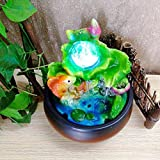 AUNMAS Mini Desktop Brunnen Feng Shui Lucky Fish Indoor Springbrunnen