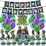 TMNT Teenage Mutant Ninja Turtles Birthday Party Supplies and Decorations for Boys Include Cake Topper Ballons Banner Table Party Favors Bundles