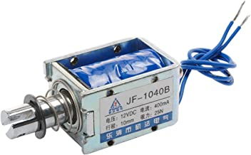 Saim DC12V 25N Force 2-Wires Pull Push Solenoid Electromagnet, 10 mm Actuator