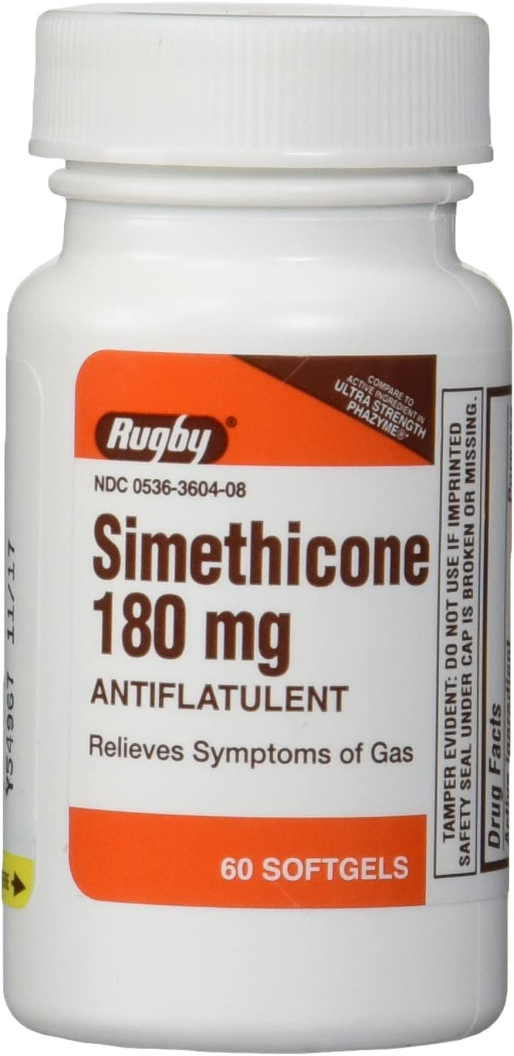 Simethicone 180mg Softgels Anti-Gas Generic for Phazyme Ultra Strength 6 PACK of 60 Softgels, Total 360 Softgels. : Health & Household