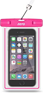 Universal Waterproof Case, JOTO Cell Phone Dry Bag for Apple iPhone 6S 6,6S Plus, 5S 5, Samsung Galaxy S6, Note 4 3, HTC LG Sony Nokia Motorola (Pink)