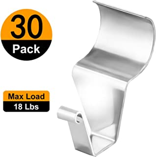 (30 Pack) Vinyl Siding Hooks Hanger, No-Hole Needed Heavy Duty Vinyl Siding Clips for Hanging Outdoor Decorations