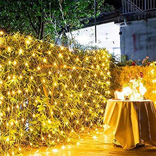 ZHJIUXING CC LED Net Light Curtain Light Indoor Garden Fairy Tale String Light, led christmas net lights, Used For Bedroom Garden Home 3 * 2m, 120leds, 1.5 * 1.5m
