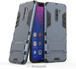 Cocomii Iron Man Armor Xiaomi Mi F1/Pocophone F1/Poco F1 Case New [Heavy Duty] Premium Tactical Grip Kickstand Shockproof Bumper [Military Defender] Full Body Rugged Cover for Xiaomi Mi F1 (I.Black)