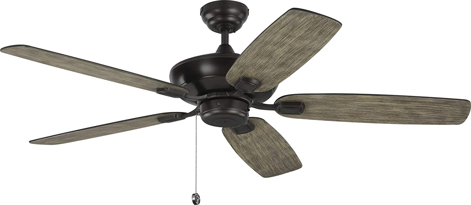 Amazon Com Monte Carlo 5com52agp Colony Max 52 Outdoor Ceiling Fan With Pull Chain 5 Blades Aged Pewter Home Improvement
