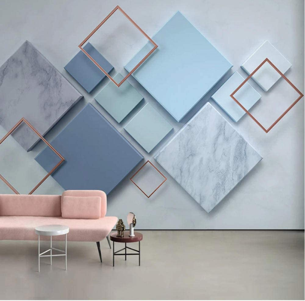 Clhhsy Custom Photo Wall Painting Geometric 3D Department store Tv Marble Cheap SALE Start Square