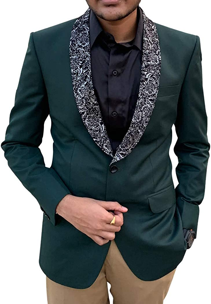 INMONARCH Mens Green Tuxedo Suit for Wedding TX10545