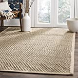 Safavieh Natural Fiber Collection NF114A Basketweave Natural and Beige...