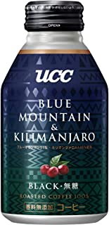 UCC BLACK無糖 ブルーマウンテン&キリマンジァロブレンド 缶コーヒー 275g ×24本