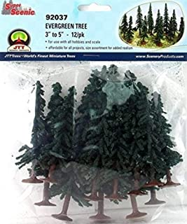 "JTT Scenery Products JTT92037 Super Scenic Tree, Evergreen 3-5"" (12)"