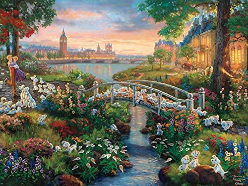 "Ceaco 750 Piece Thomas Kinkade - Disney Dreams, 101 Dalmatians Jigsaw Puzzle, Kids and Adults ,5"""