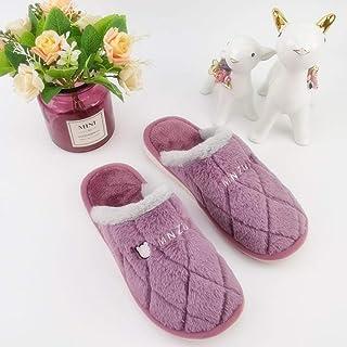 B/H Lavabile Pantofole,Lavabile Pantofole,Pantofole di Cotone Casual da Uomo e da Donna Antiscivolo in Caldo Cartone Anima...
