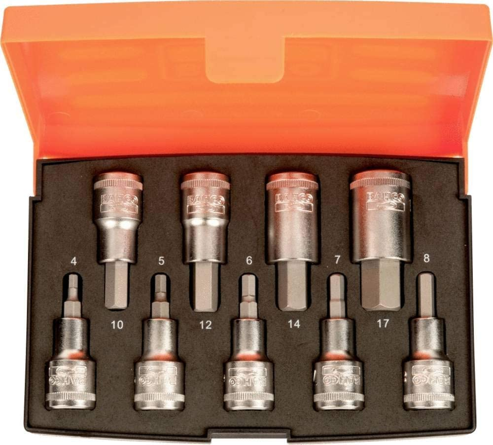 Bahco - S9HEX 1 注目ブランド 2in Drive Metric Socket 信用 Set of 9