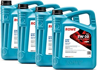 20 (4x5L) Liter ROWE HIGHTEC SYNT RS D1 SAE 5W 30 Motoröl Made in Germany