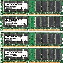 4GB KIT (4 x 1GB) for Biostar TForce Series 4 U 6100-939 TForce4 TForce4 SLI TForce4 U TForce4 U SE. DIMM DDR Non-ECC PC3200 400MHz RAM Memory. Genuine A-Tech Brand.