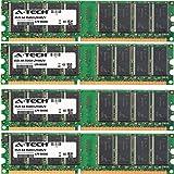 A-Tech 4GB KIT (4 x 1GB) for Gateway Media Center Series 500CXL GM4019E GM4019H GM5014B GM5024B GM5045E GM5045H GM5052E GM5072 GM5084 GM5088 GM5089E GM5094E DIMM DDR Non-ECC PC3200 400MHz RAM Memory