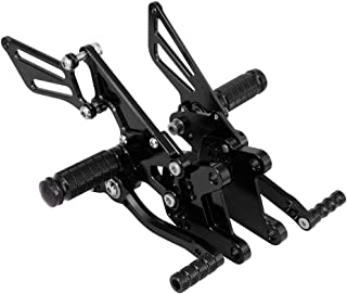 Rearsets Foot pegs Footrests Adjustable Rear Set Footpegs Foot Pedals CNC For Kawasaki Ninja ZX-10R ZX10R 2006-2010 Motorcycle - Black