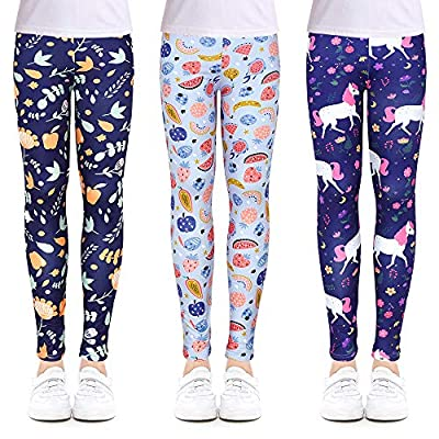 Girls Leggings Stretchy Kids Pants Classic Printing Flower 05032021020645