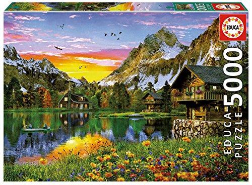 Educa Borras - Genuine Puzzles, Puzzle 5.000 piezas, Lago Alpino (17678)
