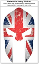 CoolHubcaps Spartan Mask - Grunge Subdued Union Jack Flag Reflective Decal
