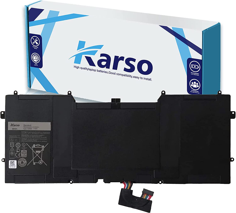 Karso C4K9V Laptop Battery Replacement for Dell XPS 12 9Q33 -L221X 13 9333 Ultrabook 13 XPS13 13-L321X 13-L322X XPS L321X L322X Series Notebook 3H76R 489XN PKH18 7.4V 55Wh