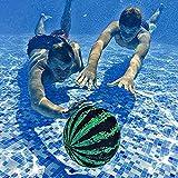 Soolike 1PC Bola de Sandía de Piscina | El Mejor Juego de Piscina | Juguetes de Piscina para Adultos niños, Bola de Billar para Regate, Buceo y Pases Bajo el Agua para Adolescentes.