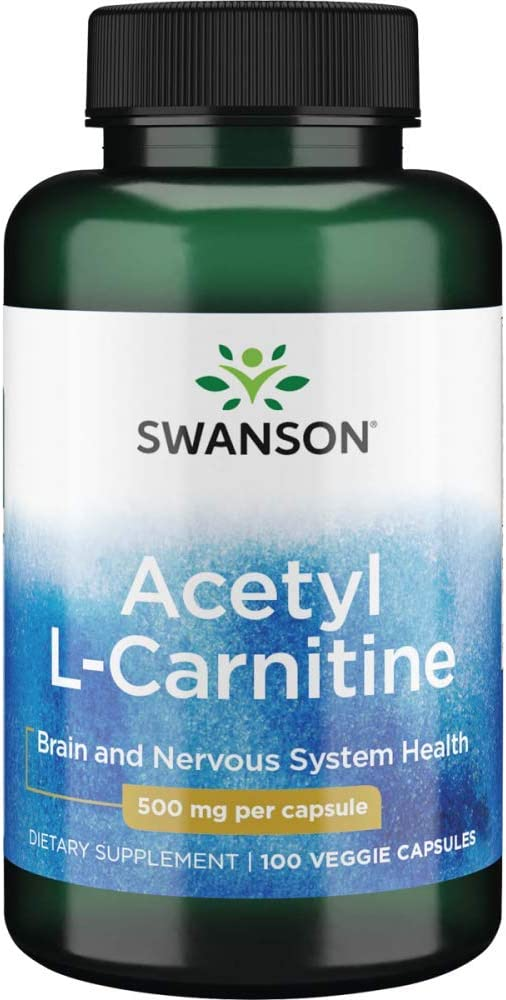 National products Acetyl L-Carnitine 500 mg 100 by Swanson Sale item Premium Caps