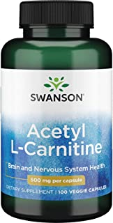 Acetyl L-Carnitine 500 mg 100 Caps by Swanson Premium