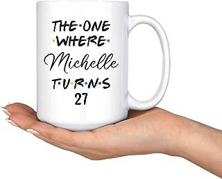 Lplpol Personalized 27th Birthday Mug, Happy 27th Birthday Party, 27th Birthday Gift for Her and Him, Twenty-Seventh Bday Present, 27th Gift Ideas, 11 Oz
