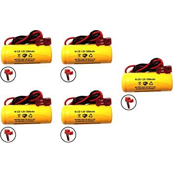 1.2v 1000mah Lithonia NiCad Battery Replacement Emergency Light Exit Sign elb1p201n2 ELB1210N ELB1P201N ELB1P2901N 1009S00-MZ Saft 1.2v 1200mah Battery Lithonia Exit Light Battery