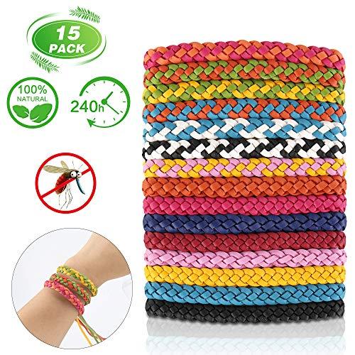 Molbory Lot de 15 Bracelets Anti-moustiques pour intérieur e