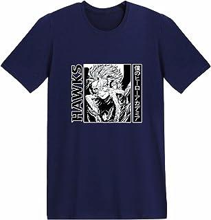 Unisex My Hero Academia T-Shirt Anime Donna Estate Manica Corta Cosplay Tops Mens Manga Boku no Hero Hawks Cotone Activewe...