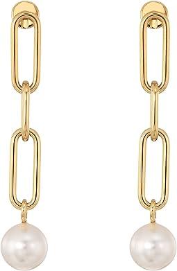 Pearl Link Linear Earrings