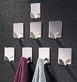 ZUNTO Crochet Adhésif 3M Crochets muraux Porte Serviette Inox Crochets pour...